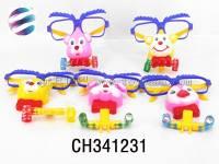 卡通动物眼镜面具 儿童角色扮演过家家游戏玩具