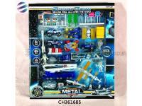 航天合金车套装玩具 航天场景模拟 过家家玩具