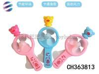 小猪手压风扇 趣味手动力空玩具 可随身携带