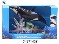 关节会动海洋动物系列 仿真海洋动物模型玩具