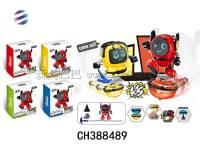 小盒装机器人 陀螺机器人对战玩具 娱乐玩具