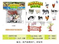 实心彩绘农场动物套装 仿真动物模型玩具