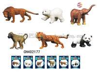 野生实心动物 仿真迷你动物模型玩具 多款混装 野生动物