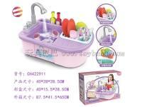 仿真过家家厨房电动洗碗洗手盆