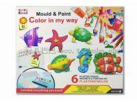DIY石膏彩绘玩具冰箱贴-海底世界