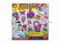 DIY石膏彩绘玩具冰箱贴-梦幻城堡