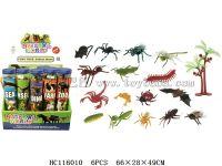 16只3寸昆虫+1椰树(20小圆筒/盒)
