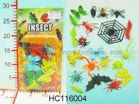 17只3寸昆虫,4只3寸蝴蝶(环保)