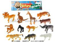12只1.5寸动物