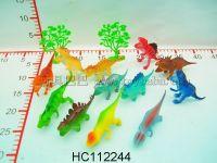 12只4寸环保恐龙+2棵树
