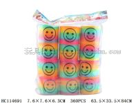 圆形台湾色印刷笑脸彩虹圈(12只/袋)