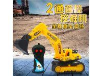 两通遥控车遥控挖掘机工程车挖土机耐摔儿童玩具地摊热销厂家直销
