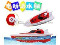 新款电动船快艇儿童洗澡泳池戏水儿童电动玩具船夏天热卖厂家直销