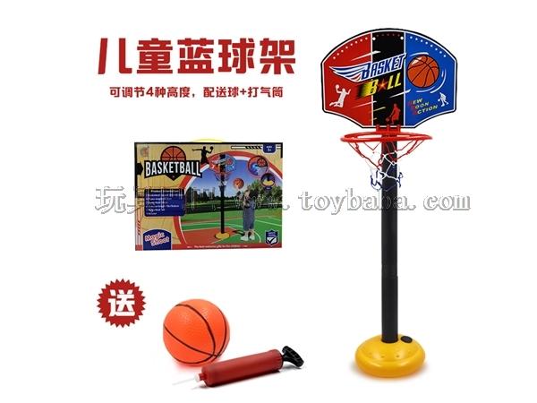 儿童篮球玩具 体育运动投篮玩具可升降调节篮球架配打气筒/塑料板