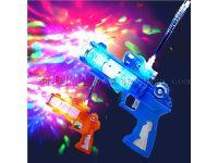 儿童光纤枪闪光音乐电动八音枪发光投影男孩玩具地摊热销澄海玩具