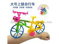 儿童上链玩具自行车 大号上链发条自行车可折叠车身 澄海玩具批发