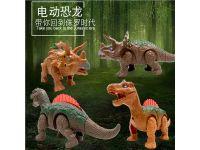 电动儿童益智玩具发光发声仿真恐龙玩具电动恐龙厂家批发直销地摊