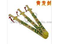 地摊热卖儿童玩具木制青龙剑 古代军事模型模具玩具厂家直销批发