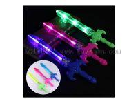 新款电动发光声光剑儿童发光玩具批发