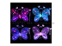 厂家直销单层发光蝴蝶翅膀三件套发夹仙女棒