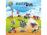 龙越12合1百变动物早教益智电动玩具创意DIY儿童积木厂家直销