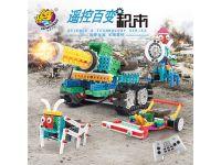 龙越 遥控坦克机器人创意DIY益智拼插积木儿童玩具