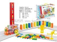 电动多米诺小火车骨牌 轨道玩具 玩具巴巴7012-50