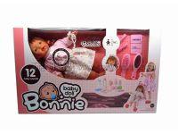 16寸12声填棉女娃娃带奶嘴链+配件+塑料推车