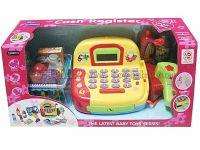 儿童过家家玩具收银机3*AA不包电单款单色超市购物仿真