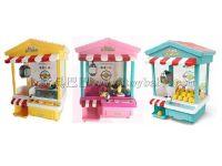爆款玩具投币机屋顶抓娃娃机自动款立体图7彩灯光黄粉绿3色混装