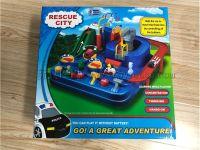 抖音同款汽车闯关大冒险玩具手动机械轨道车惯性火车益智儿童玩具