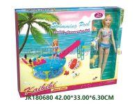 11.5寸实身凯比比泳池娃娃单款