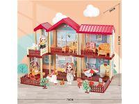 公主城堡玩具别墅小女孩过家家儿童娃娃屋创意礼物套装