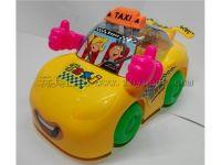 拉线灯光卡通的士车(可装糖)