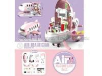 卡通飞机二合一(化妆品主题)过家家玩具,产品单色装,不混色