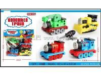 4只装拆装小火车男孩过家家益智玩具