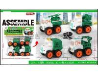 4只装拆装环卫车儿童过家家益智玩具