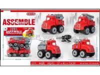 4只装拆装消防车儿童益智过家家玩具