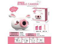 音乐灯光电动泡泡相机粉红兔