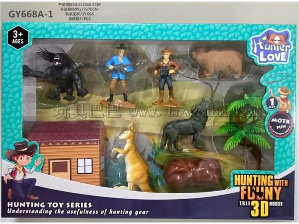 猎人pvc动物模型玩具套装