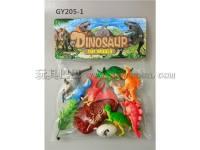 pvc迷你恐龙模型化石玩具套装