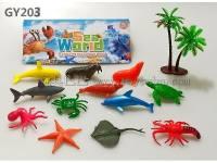 pvc海洋模型玩具椰树套装