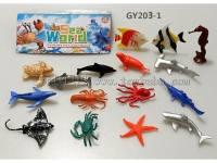 pvc海洋仿真模型玩具套装