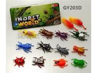 迷你pvc独角仙甲虫模型玩具套装