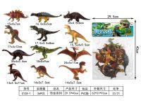 彩画仿真恐龙12pcs