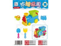 沙滩玩具载沙火车套装