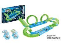 高速遥控夜光轨道车玩具车