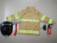 长袖消防服带黑色消防帽(黄色)