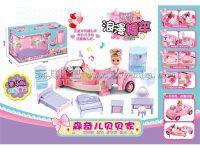 小女童玩具婚车女孩公主城堡房子儿童娃娃过家家套装玩具