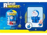 厂家直销 儿童回力变形车 变形玩具 叮当猫变形回力车  变形哆啦A梦回力车 CJ-1414193